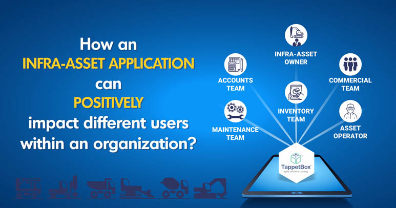How an infra-asset application can positively impact different users within an organization?